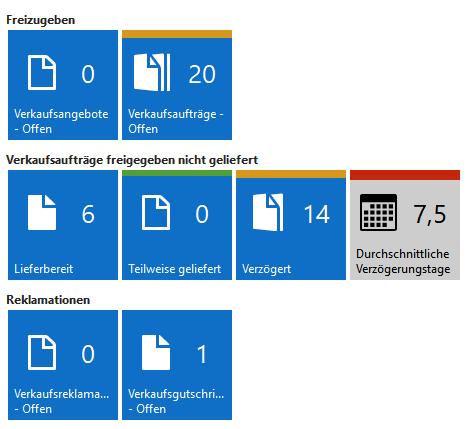 Microsoft Dynamics NAV 2017 - Kacheln farblich kennzeichnen