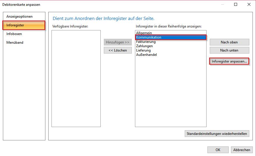 Microsoft Dynamics NAV 2017 – Inforegister anpassen