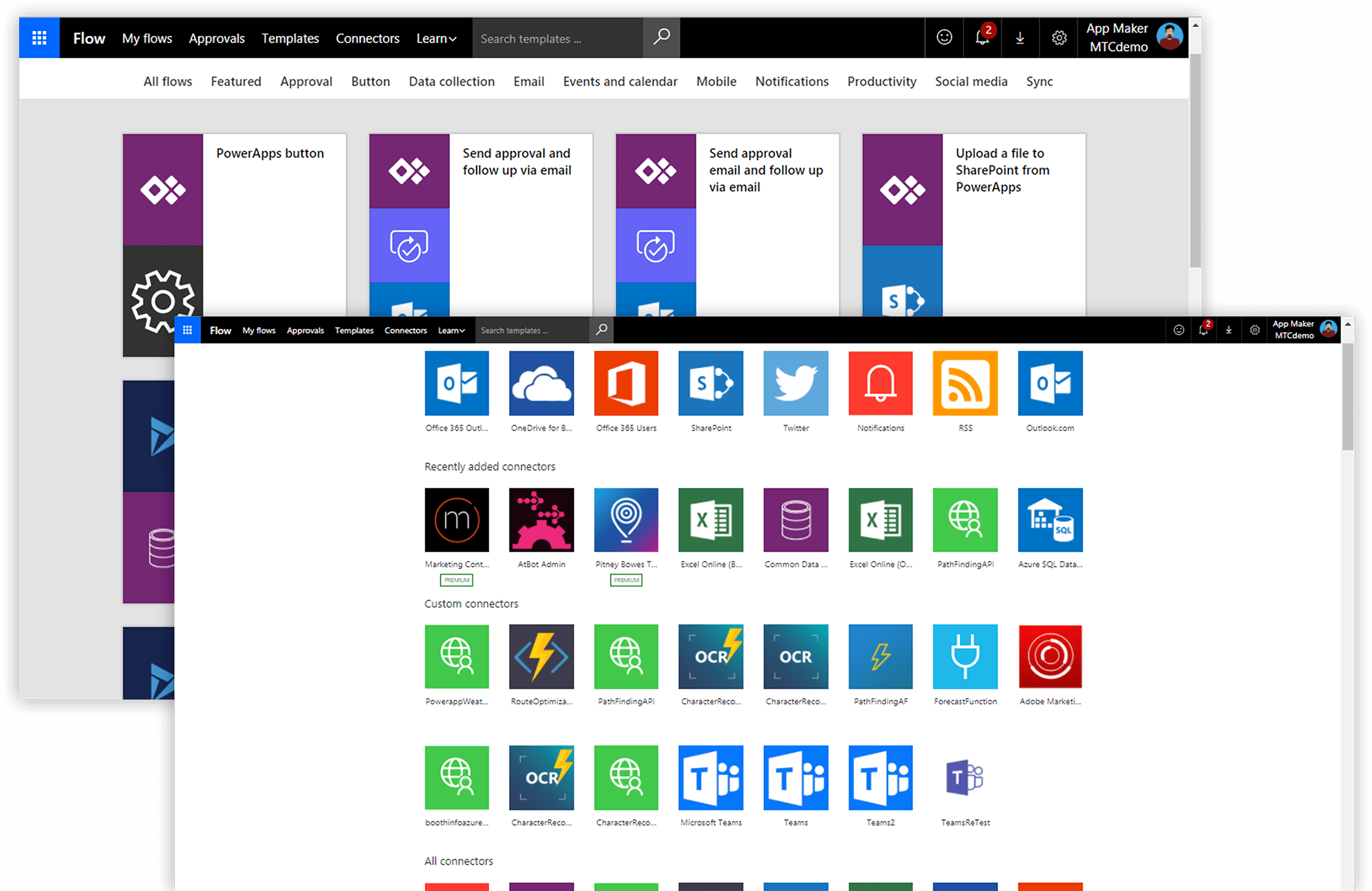 Microsoft Power Apps Konnektoren