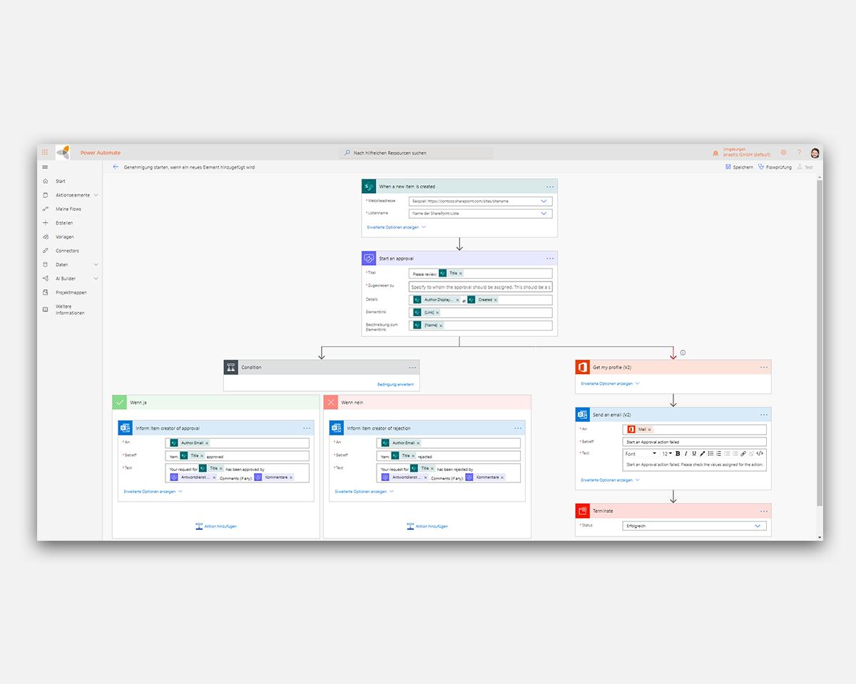 Microsoft Power Automate - neuen Flow erstellen